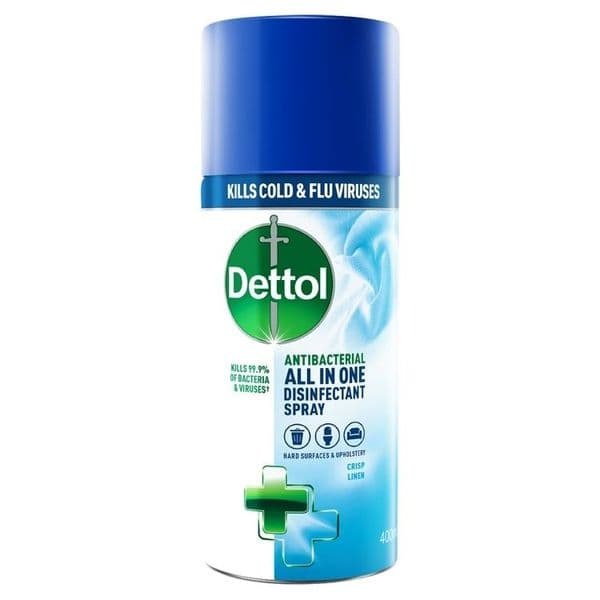 Dettol Disinfectant Spray 400ml - Crisp Linen